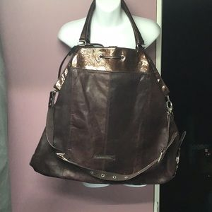 BCBG leather tote bag